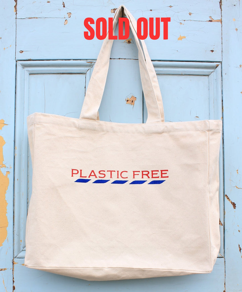 PLASTIC FREE organic cotton LARGE STREET TOTE