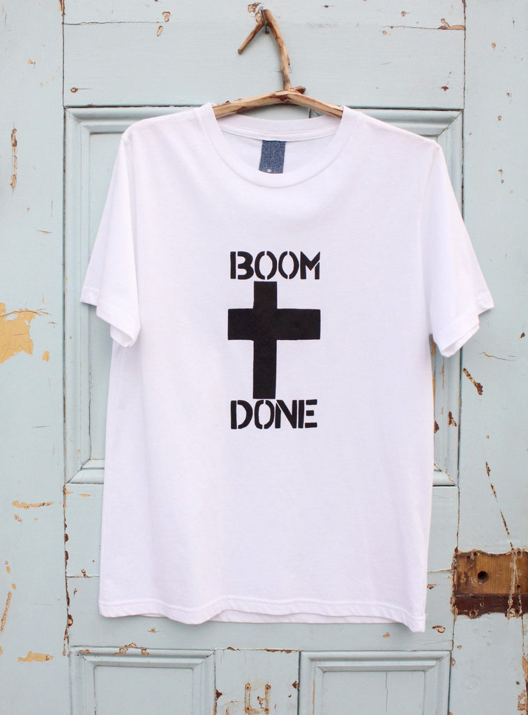 BOOM DONE ETHICAL T-SHIRT (SAMPLE)