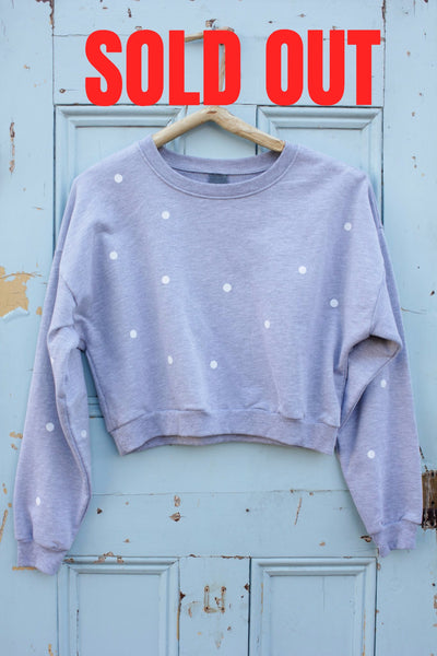 BOOM BERGIN ETHICAL CROP SWEATSHIRT