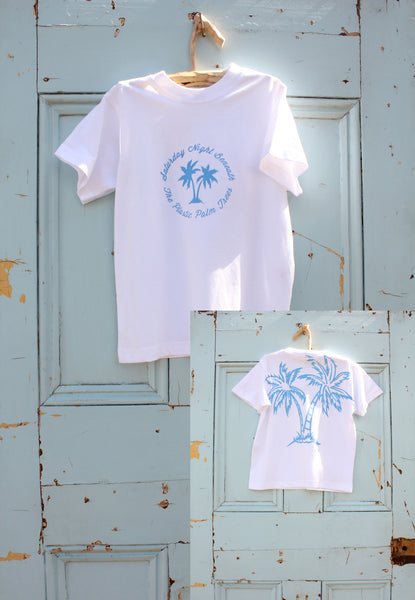 'Saturday Night Beneath The Plastic Palm Trees' Ethical Kids T-Shirt