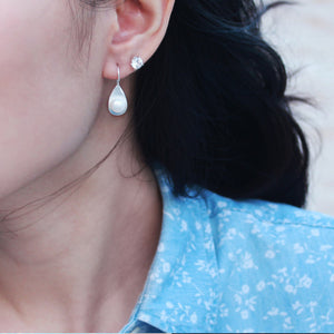 Pearl On Shell Earrings (H)