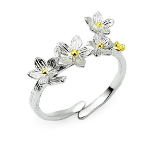 Adjustable Cactus Flowers Ring