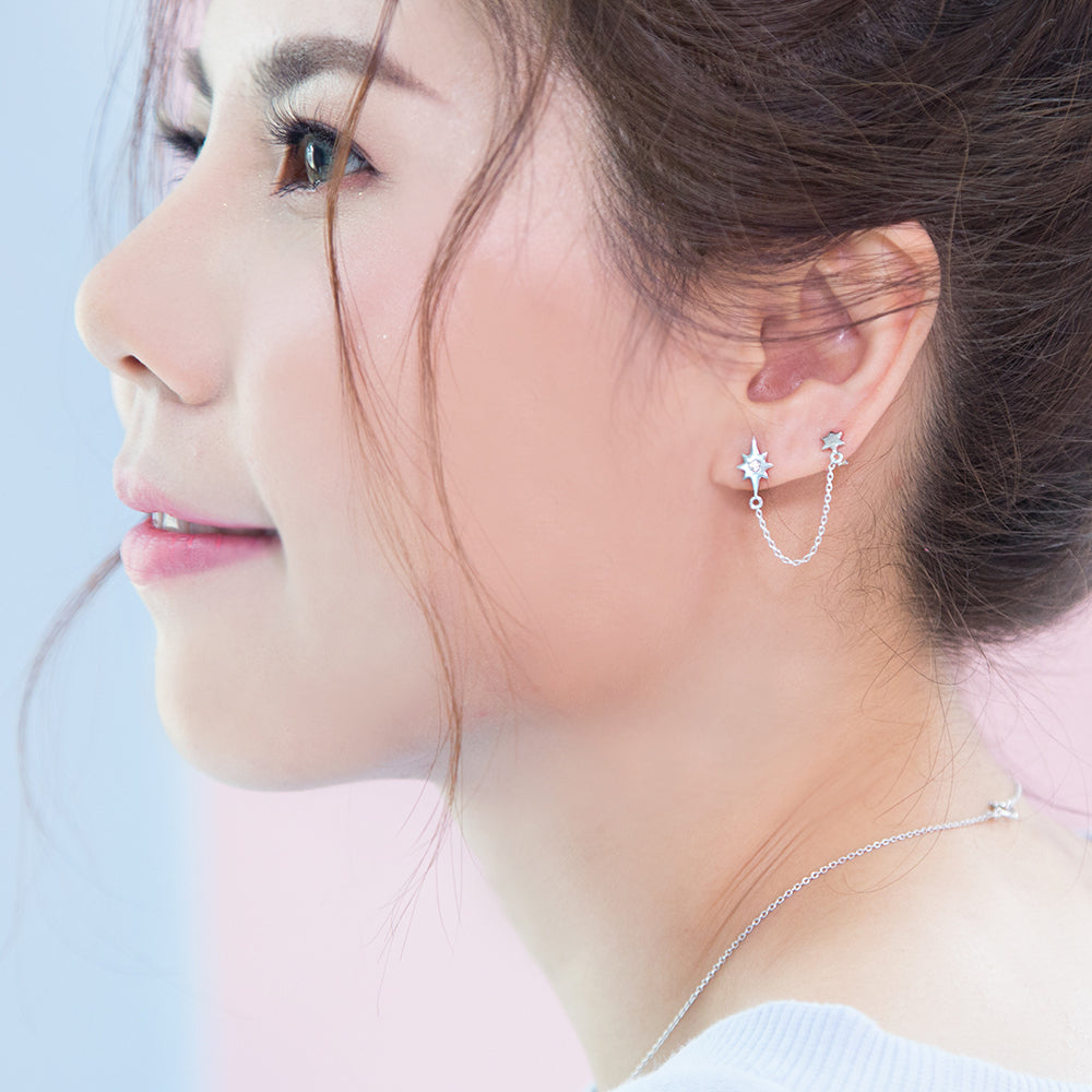 Sparkling Day Chain Earrings (pcs)