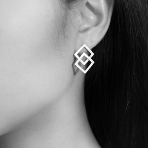 The Overlapped Square Earrings (36)