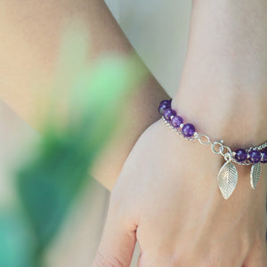 Load image into Gallery viewer, Leaves In A Purple Fantasies Bracelets (63)