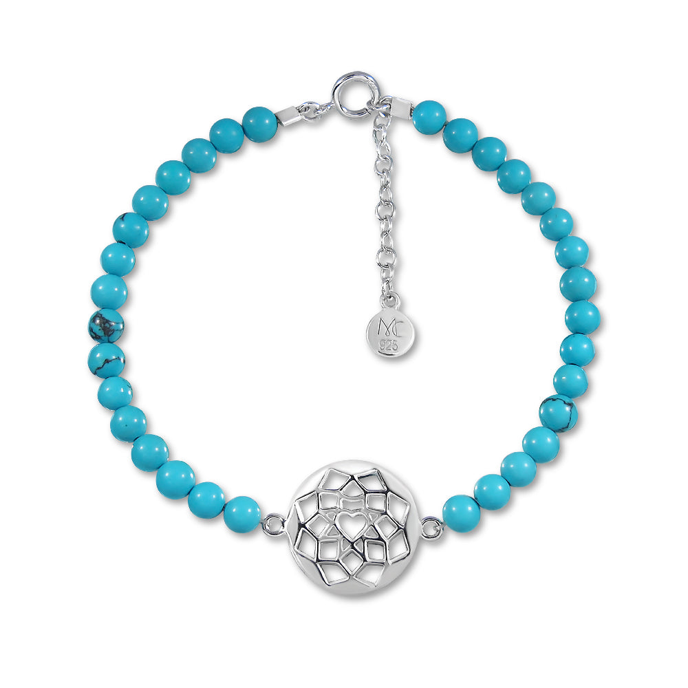 Load image into Gallery viewer, Dream in Blue Sky Bracelet - Turquoise