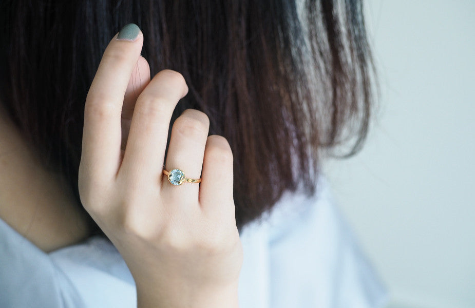 Wednesday | Lucky Me Blue Topaz Ring