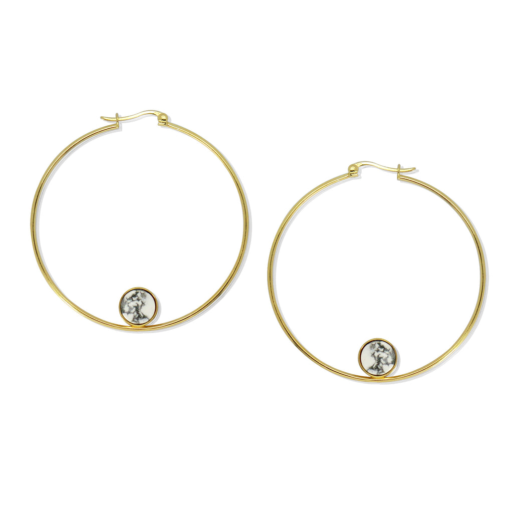 Marble in Rome Hoop Earrings (G)