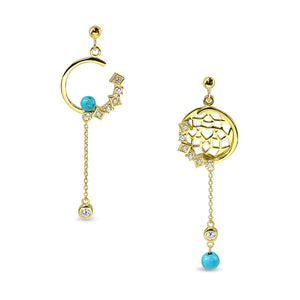 Load image into Gallery viewer, Good Dream Earrings – Series : Golden Blue Sky