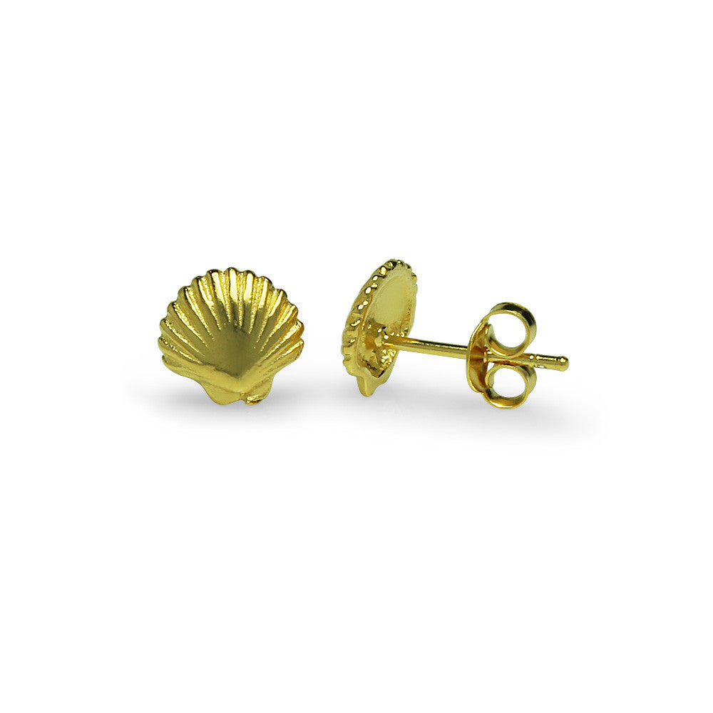Precious Shell Earrings - Gold