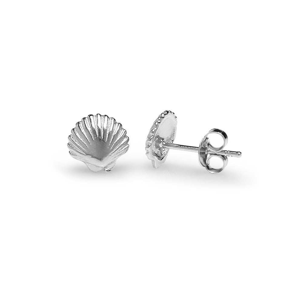 Load image into Gallery viewer, Precious Shell Earrings - Silver
