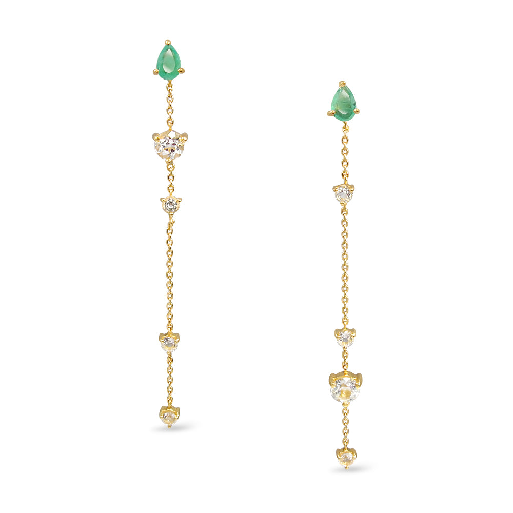 Load image into Gallery viewer, Queen of Grace Earrings (Emerald)