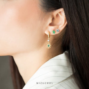 Emerald Eyes Earrings (G)
