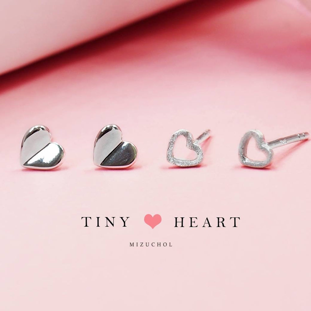 Load image into Gallery viewer, Tiny Heart Earrings
