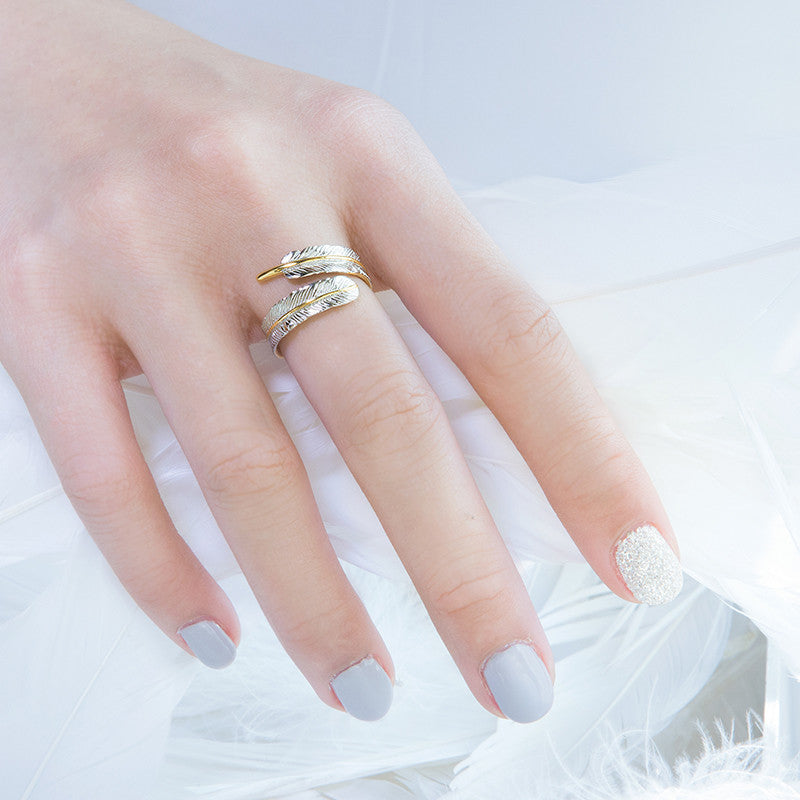 Little Angel Trace Ring - Two Tones (95)