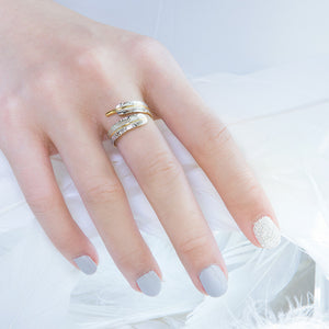 Load image into Gallery viewer, Little Angel Trace Ring - Two Tones (95)