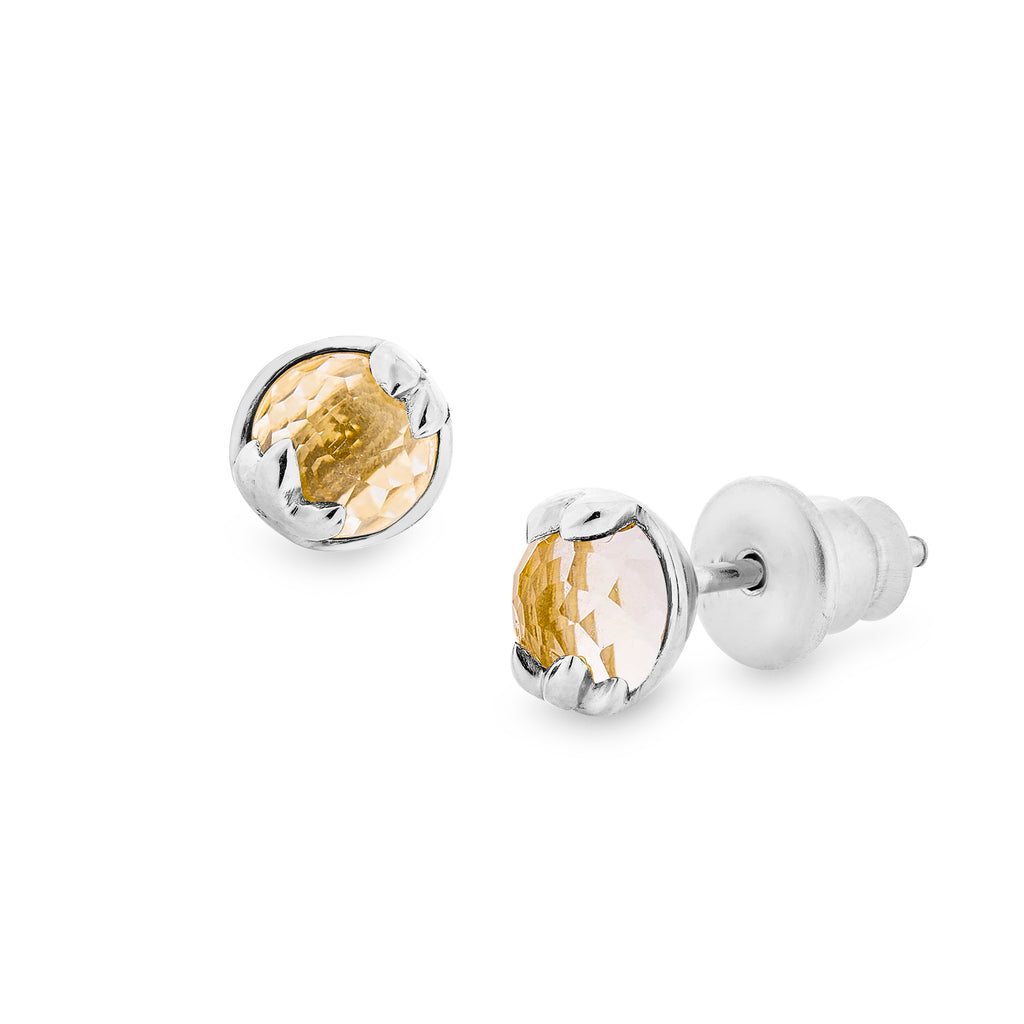 Lucky me Earrings - White Gold (Thu)