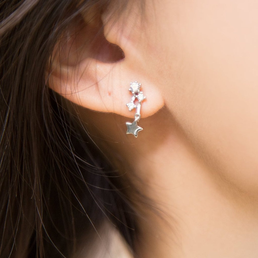 Sparkling Comet Earrings