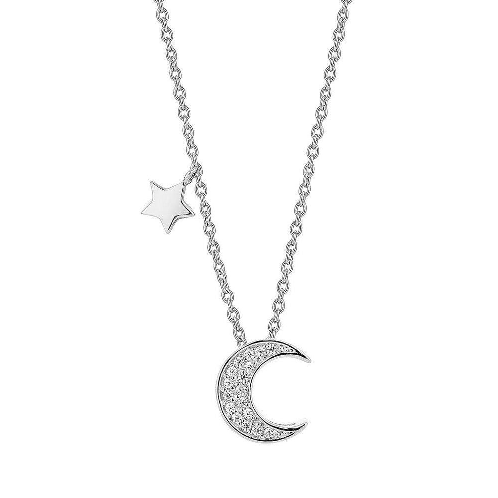 Load image into Gallery viewer, Silver Lunar Necklace (RD)