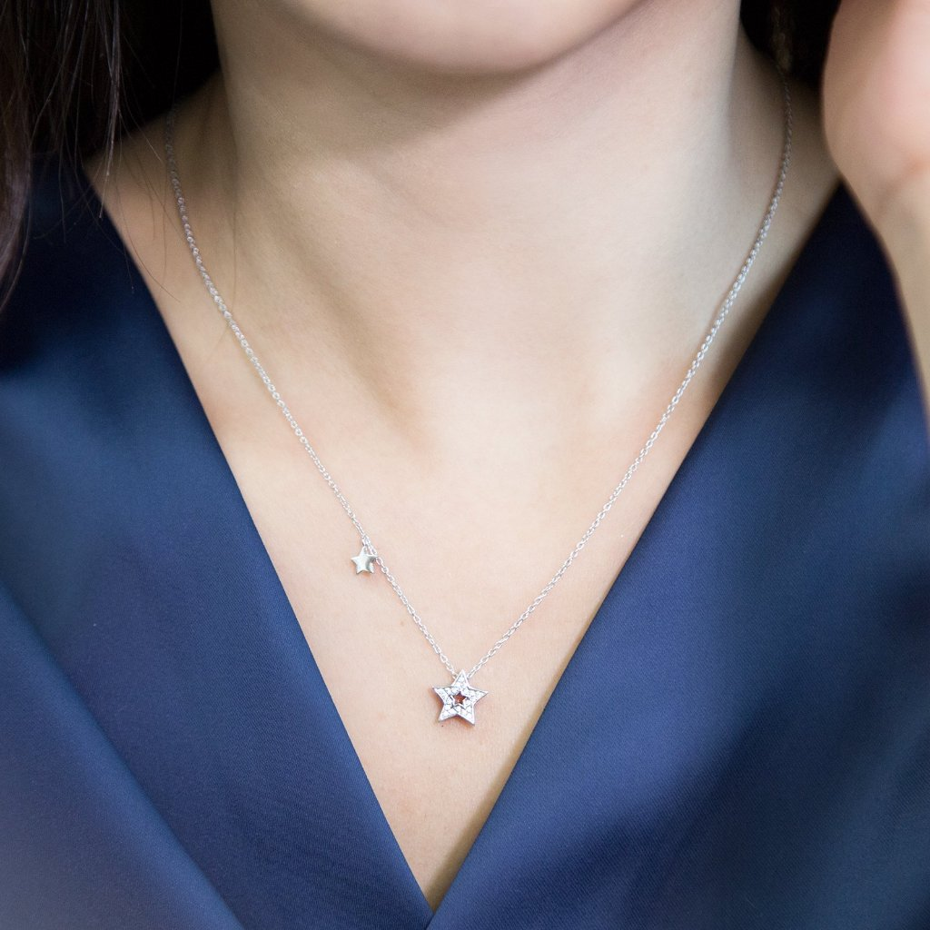 Twinkle Little Star Necklace (RD)