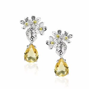 Load image into Gallery viewer, Bloom in Summer Earrings (Citrine Added)