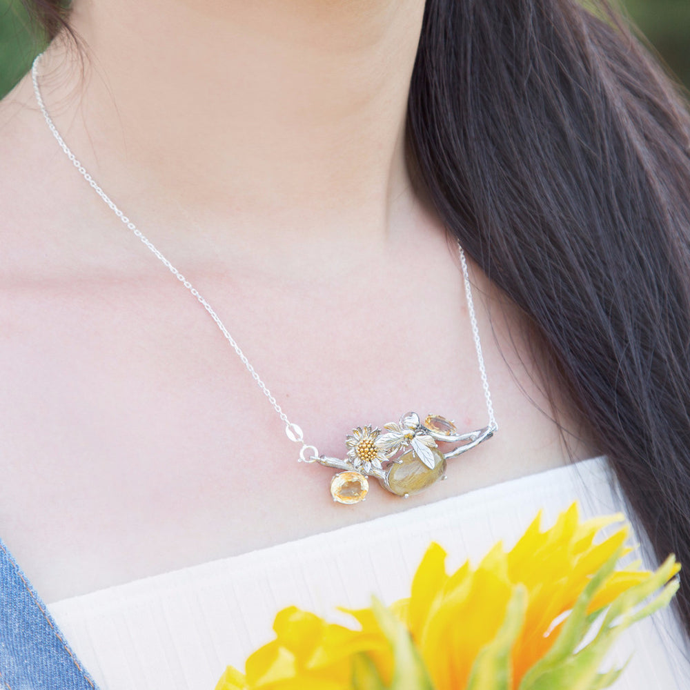 Dreamful Sunflower Necklace