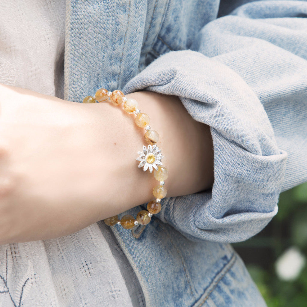 Little Golden Sunflower Bracelet