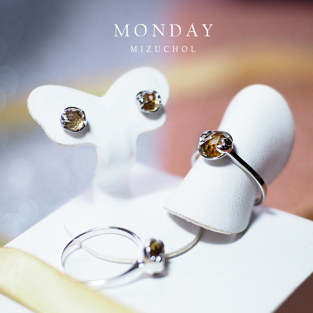 Monday | Lucky me Ring- White Gold (Citrine)