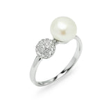 Glittering Snow Ball Ring