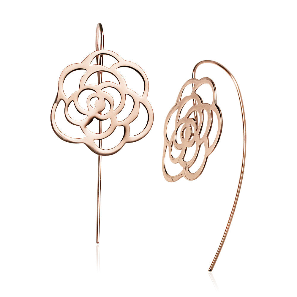 Load image into Gallery viewer, Elegant Shadow Earrings Rose Gold)