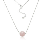 Falling In Love Necklace (Rose Quartz)