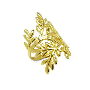 Olive Leaves Cocktail Ring (G)