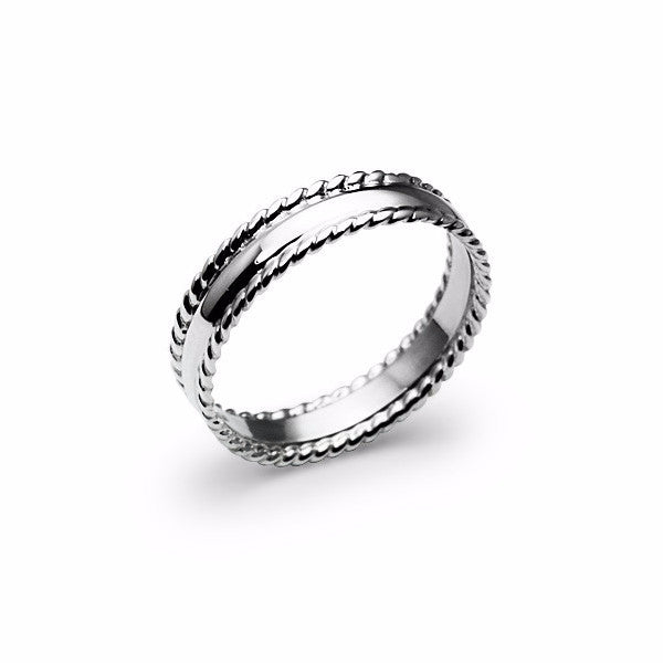 Combination Of Twist And Plain Ring (53)