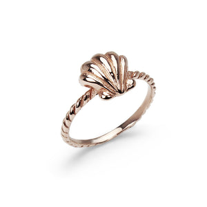 Precious Shell Stack Ring - Pink Gold