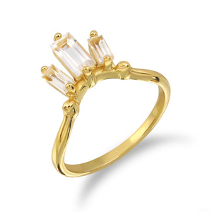 Load image into Gallery viewer, Love & Flirt Ring (G) - White Topaz