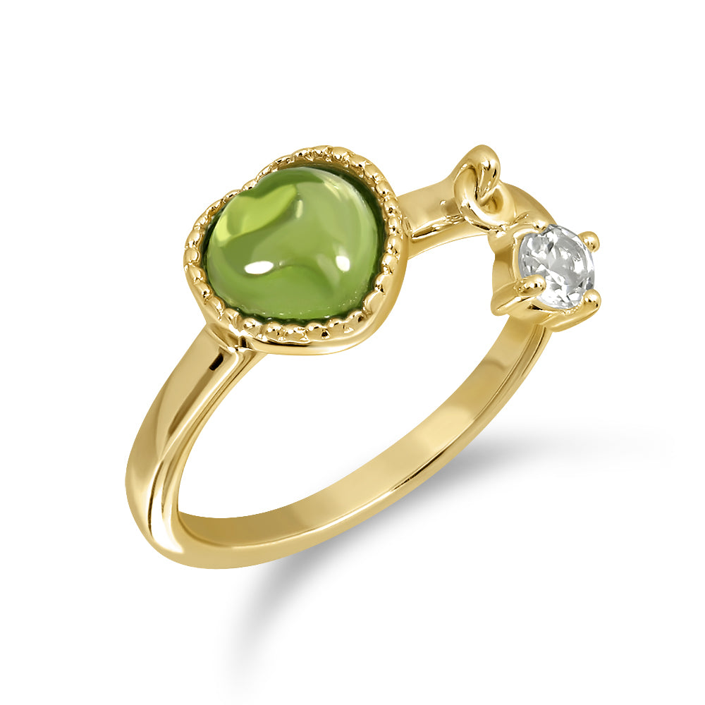 Darling Ring (Gold) Sun - Peridot