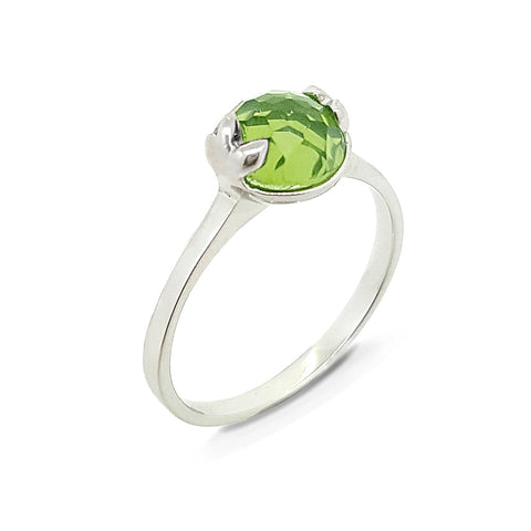 Friday | Lucky me Ring- White Gold (Peridot)