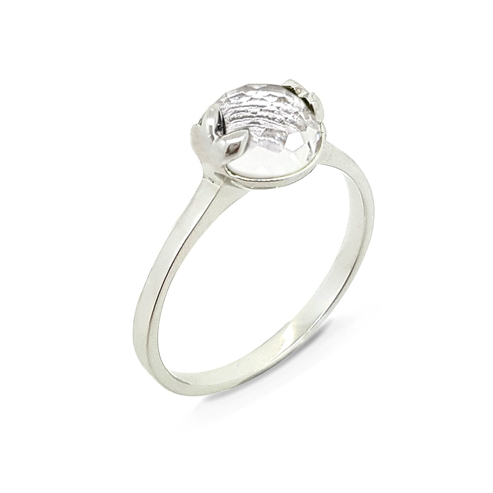 Thursday | Lucky me Ring- White Gold (White Topaz)