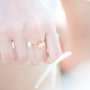 Sky and Sea Stack Ring - Gold
