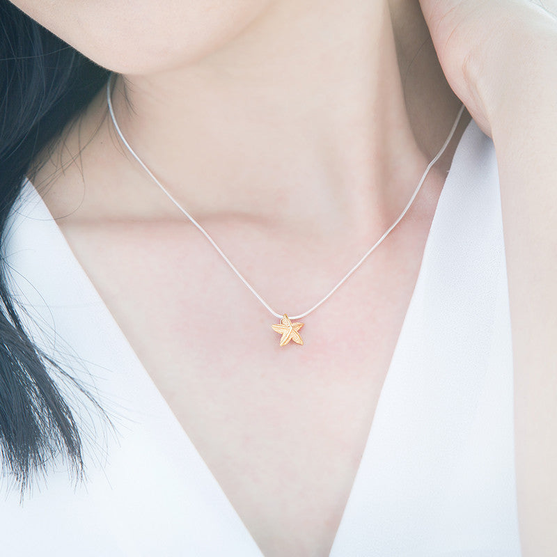 Sky and Sea Necklace - Gold