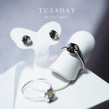 Lucky me Earrings - White Gold  (Tue)