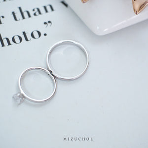 Mini Heart Couple Ring - Male (RD)