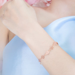 Elegant Shadow Bracelet (Rose Gold)