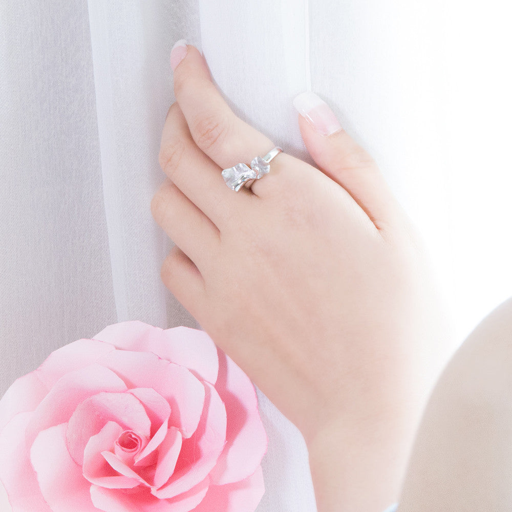 Petals of Rose Ring (Silver)