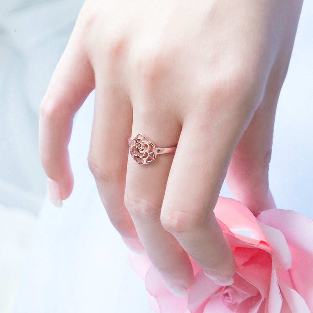 Elegant Shadow Ring (Rose Gold)