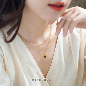 Lucky Me Double Layer Necklace - G (Sun)
