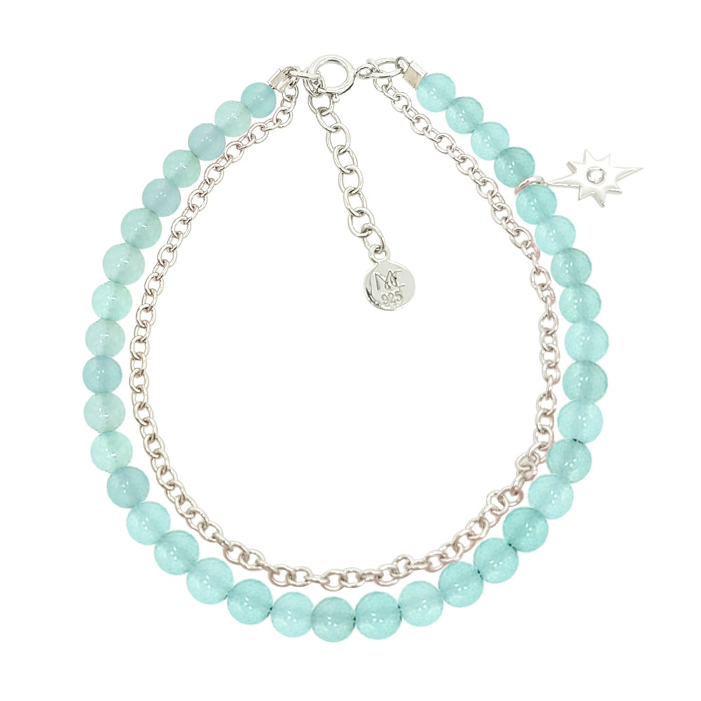 Load image into Gallery viewer, Bubbly Dream Bracelet - Blue Chalcedony