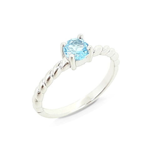 Stackable Dream Ring - Blue Topaz