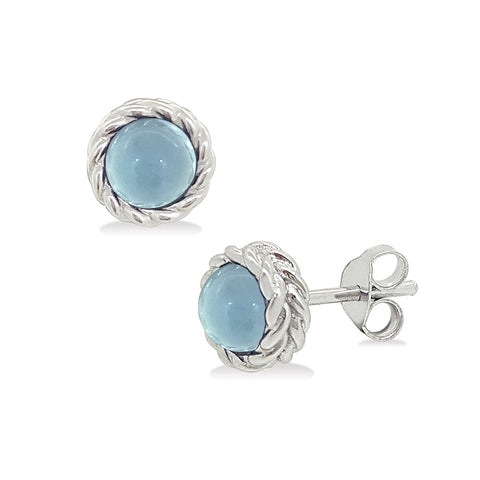 Bubbly Dream Earrings - w/ Blue Chalcedony