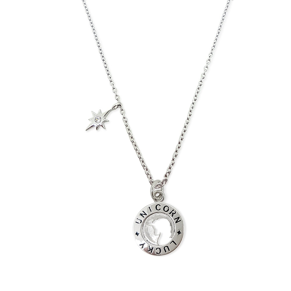 Lucky Unicorn In a Sparkling Day Necklace